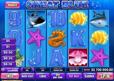 Free Slots Game Great Blue